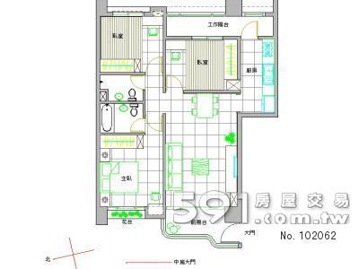室内格局附装潢平面图
