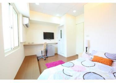 新竹租屋,竹北租屋,獨立套房出租,房型1:房間超明亮,採光無死角