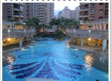 中庭泳池美景
